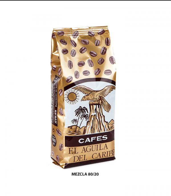Café mezcla 80/20 El Águila del Caribe